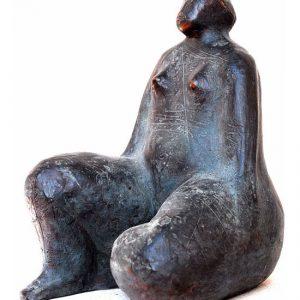 Gina - Bronzetto a cera persa h cm 25