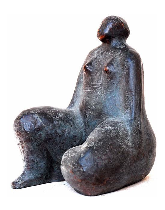 (Italiano) Gina – Bronzetto a cera persa h cm 25