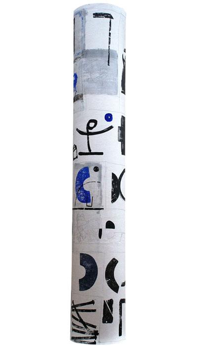 (Italiano) Il tubo racconta – Pittoscultura h cm 23