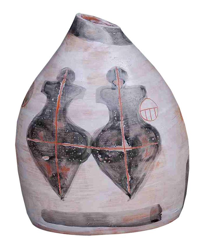 (Italiano) Vaso ceramica cm 25