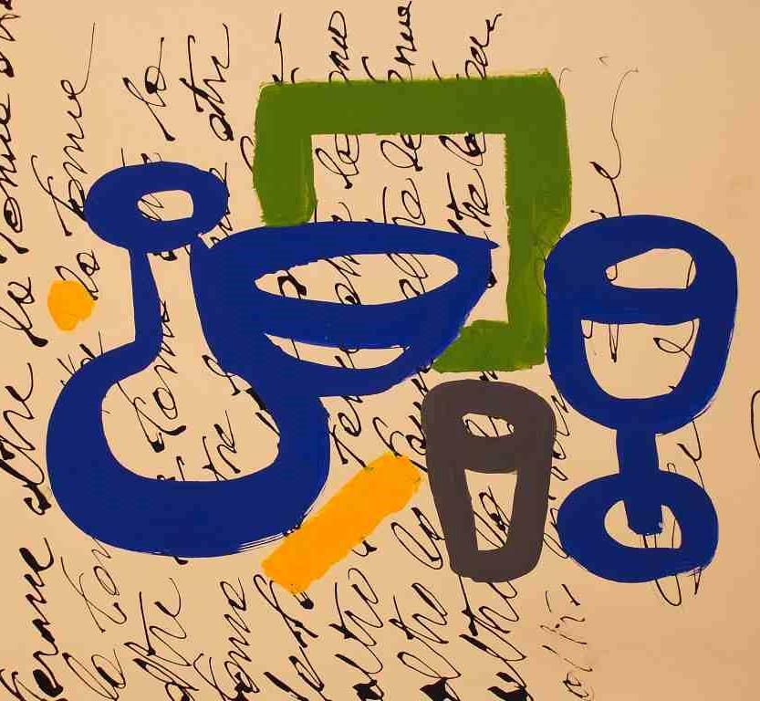 Vetri colorati – tecnica mista carta su tavola, cm 48×50 – 2017