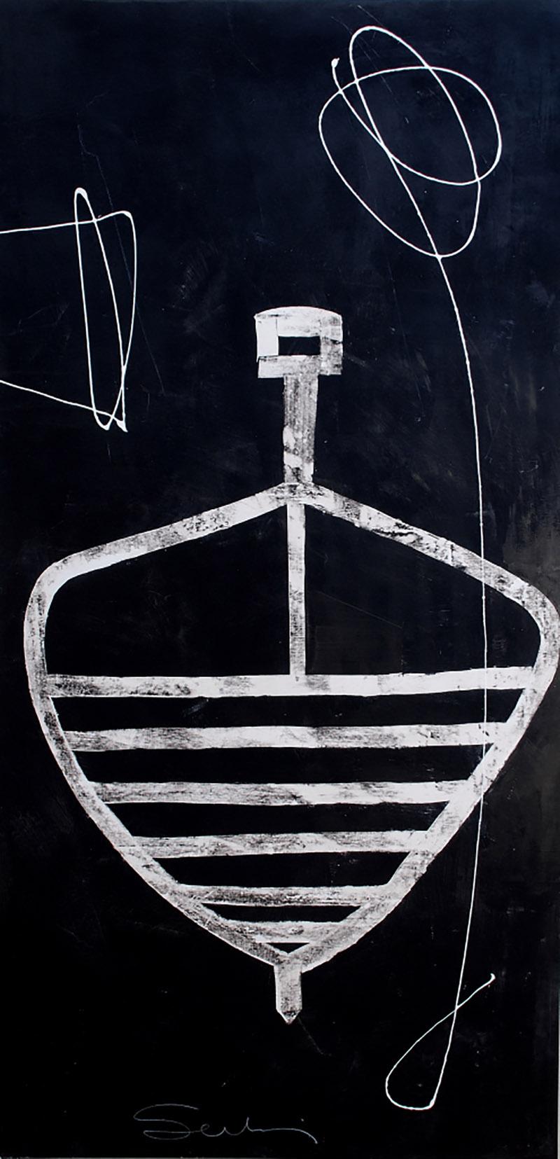 Trottole – tecnica mista su tela cm 180×80 2015