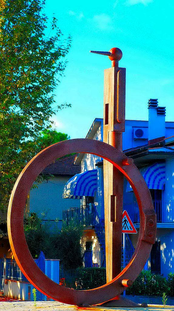 (Italiano) Pinocchio – scultura monumentale acciaio corten alta 4 metri